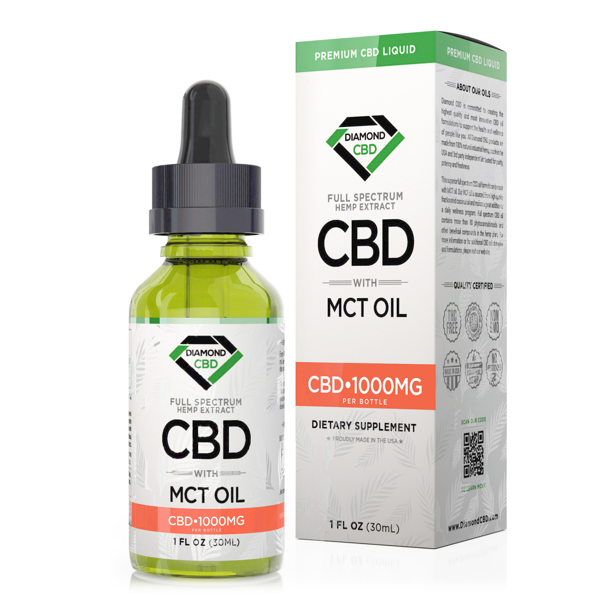 Diamond CBD Full Spectrum MCT Oil - 1000mg (30ml)