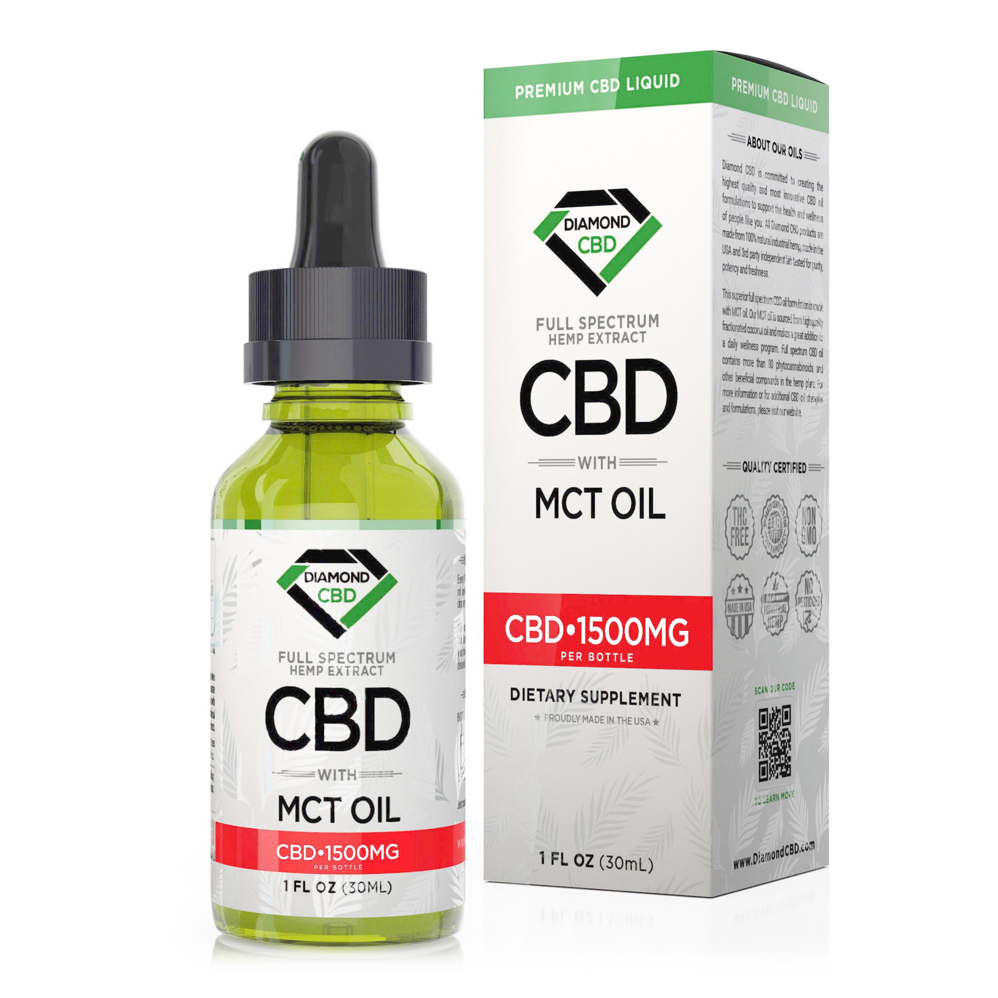 Diamond CBD Full Spectrum MCT Oil - 1500mg (30ml)