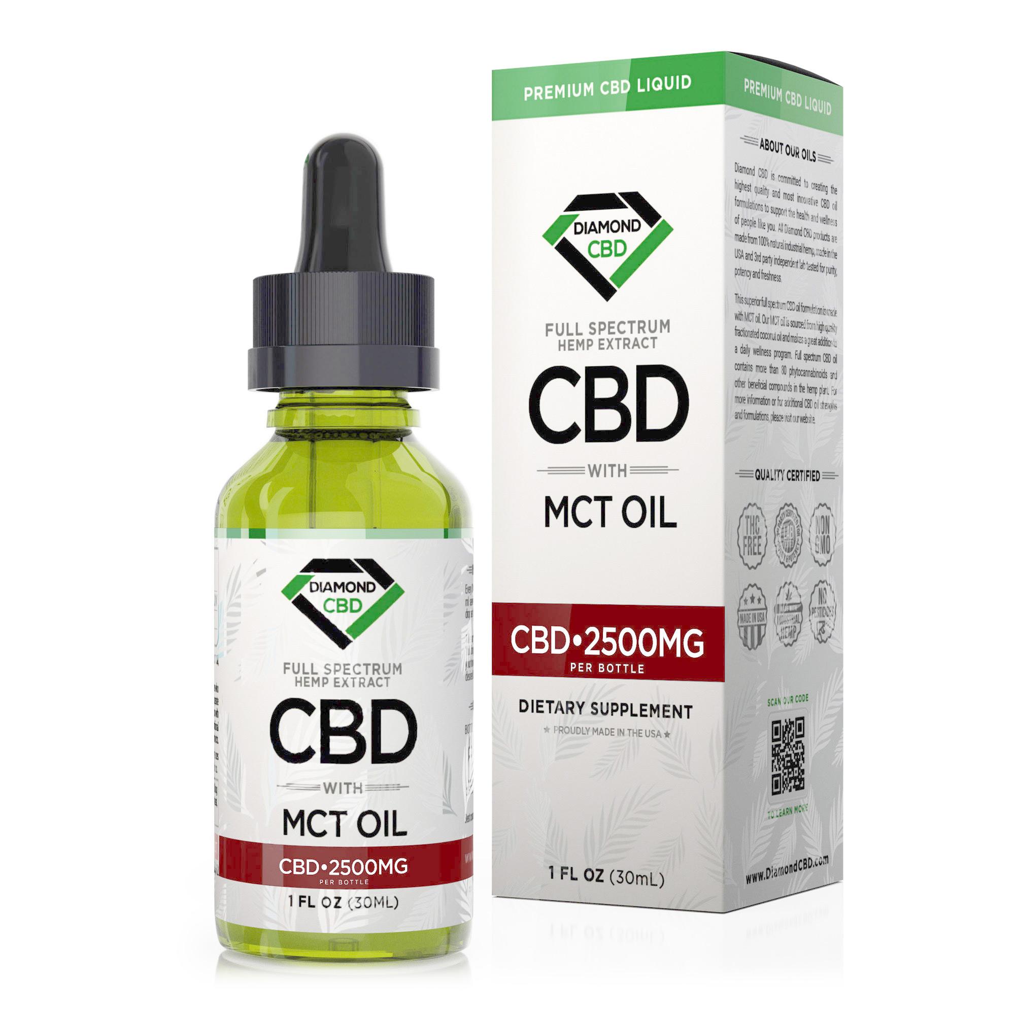 Diamond CBD Full Spectrum MCT Oil - 2500mg (30ml)