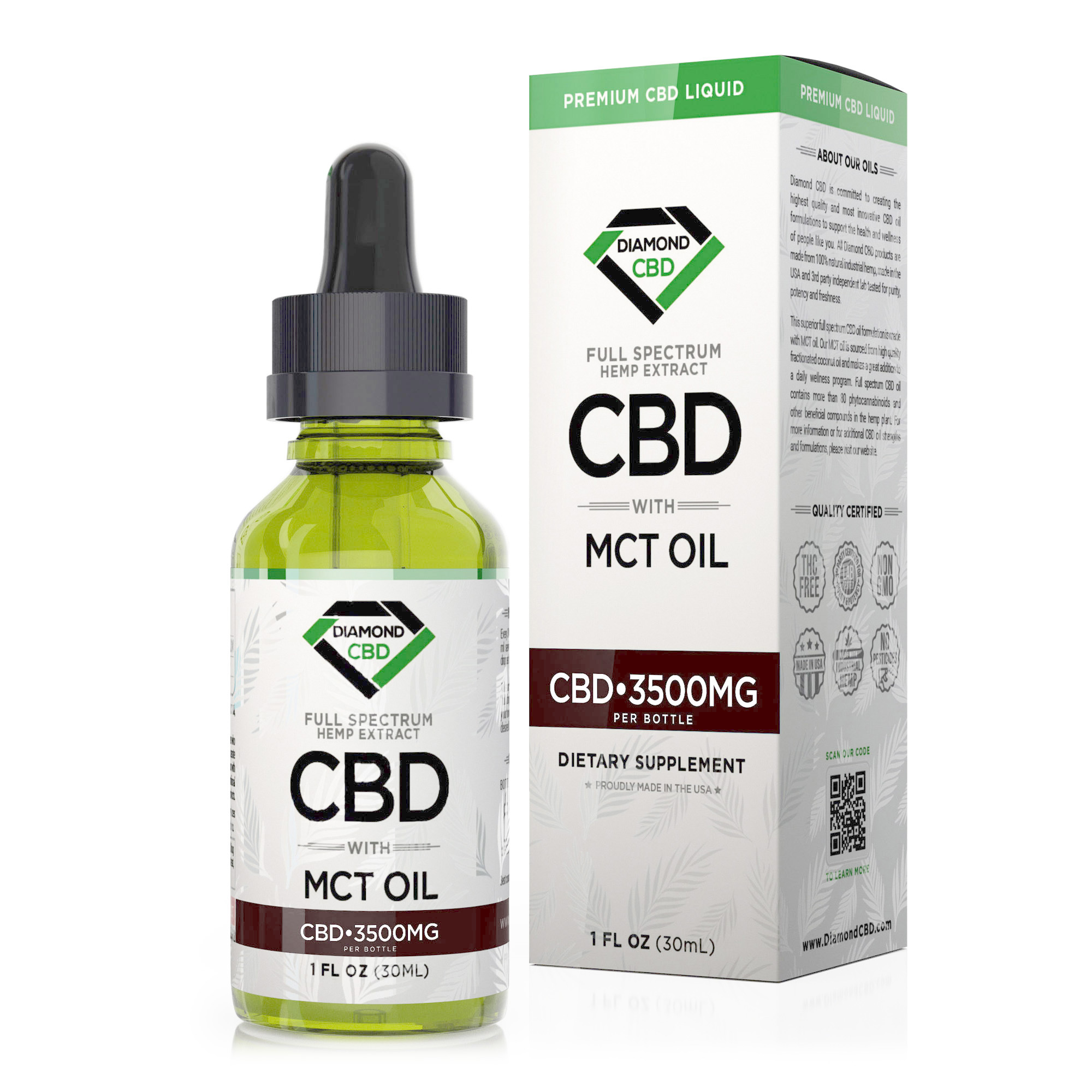Diamond CBD Full Spectrum MCT Oil - 3500mg (30ml)