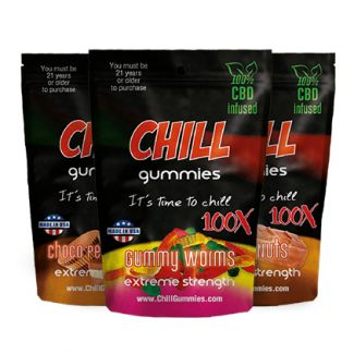 Chill Gummies 100X CBD are the high quality CBD treats infused with CBD from industrial hemp oil and designed to make your chill. Chill Gummies 100X CBD gummy forms include CBD gummies bears, CBD gummies fruits, CBD gummies worms, CBD gummies snakes, CBD gummies sours, CBD gummies rings, CBD gummies fish shapes, CBD gummies sour faces and more.