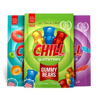 Chill Plus Gummies 100% CBD Infused Gummies are the natural CBD edibles made from organic industrial hemp oil and free of THC. Be well with these extra strength CBD oil infused edible gummies!