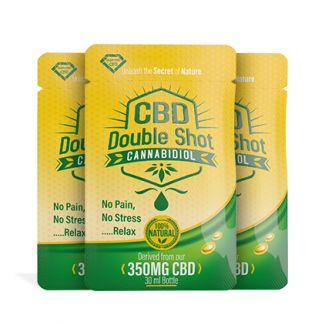 Diamond CBD, CBD Double Shots (Cannabidiol 350mg) are the one-time use, on-the-go, travel-size, CBD shots made from organic industrial CBD hemp oil (cannabidiol). Free of THC, CBD Double Shots are a great CBD alternative to edibles, CBD tinctures, CBD hemp oils or CBD pills.