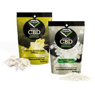 CBD Crystal Dabs are CBD oil isolate powders refined to a 99% concentration of CBD. This pure, raw crystallized powder that can be vaped, added to foods, liquids, and a wide range of other products.